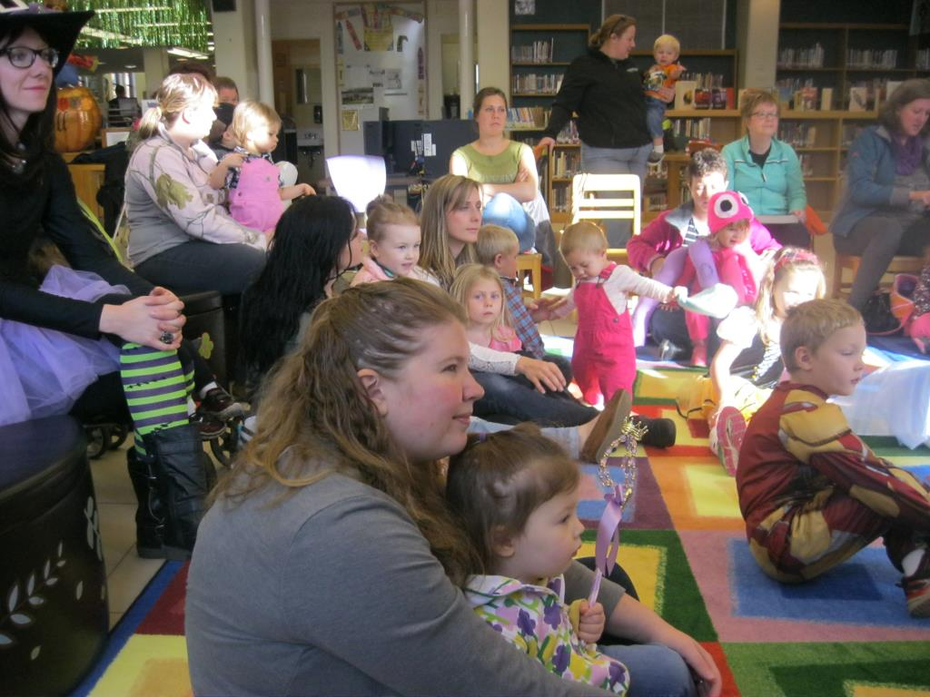 Fall Story Time participants